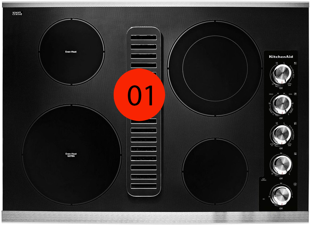 KitchenAid Electric Cooktop - KCED600GSS - 1599